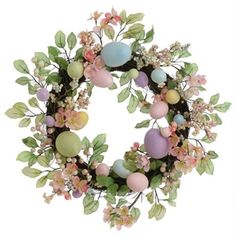 RAZ Imports Floral Easter Egg Wreath at Von Maur