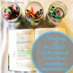 Studying the Bible Using the SOAK Method, Coloring Chart and Meditation - Women Living Well Bible Study Tips, Scripture Study, Scripture Journal, Bible Lessons, My Bible, Bible Verses, Daily Bible, Scriptures, Bible Plan