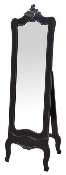 Antoinette Shabby Chic Stylish Black Cheval Mirror