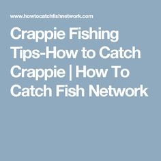Ultimate guide on how to catch crappie including great fishing tips on the best lures and bait, the right equipment, and techniques for catching crappie. Crappie Bait, Crappie Fishing Tips, Kayak Fishing, How To Catch Crappie, Knots, Lips, Accessories, Buttons, Jewelry Accessories