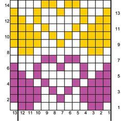 Bilderesultater for knitting ´chart heart Crochet Dolls Free Patterns, Weaving Patterns, Cross Stitch Patterns, Knitting Patterns, Filet Crochet, Crochet Chart, Knitting Charts, Knitting Socks, Mochila Crochet
