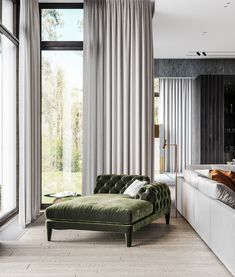 Luxury home with a modern glamorous interior. A cool grey colour scheme with gold and green decor accents, modern furniture, and unique designer lighting ideas. Gray Dining Chairs, Dining Nook, Home Office Design, House Design, Home Furniture, Modern Furniture, Home Interior, Interior Design, Staircase Design