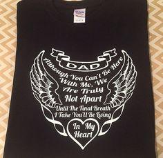 14d435736 Dad in Heaven Shirt, Memorial Tshirt, Dad Gift, Fathers Day, RIP Shirt, Dad  Shirt, Shirt for Dad in Heaven
