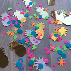Tropical Pineapple Confetti/Party Confetti/Luau by PicktheCake