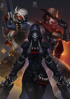 overwatch——3 sister, mist XG on ArtStation at https://www.artstation.com/artwork/n6eeo?utm_campaign=notify