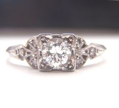 Edwardian Art Deco Engagement Rings