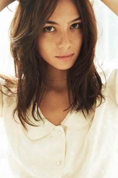 Like this medium hair length.. and cut