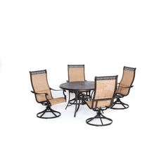 Cambridge Legacy 5-Piece Dining Set with Four Swivel Rockers , Patio Furniture