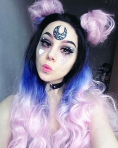 ♥♥ #Hisuxen #Girl #Beautiful #Gorgeous #Awesome #Look #Style #Amazing #Kawaii #PastelGoth #Goth #Lovely #Sweet #Cute #Cool #Pretty #MakeUp #Black #CircleLenses #Hair ♥♥