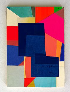"""William LaChance """"endo"""" gouache and enamel on paper and canvas mounted on lauan 12"""" x 16"""" 2016"""