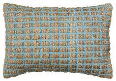 Natural Fiber Accent Cotton Throw Pillow