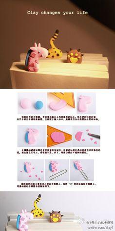 DIY Animal Clay Paper Clip