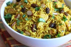 This recipe for Easy Chicken Biryani captures its marvelous flavor and texture but is ready in under 30 minutes!