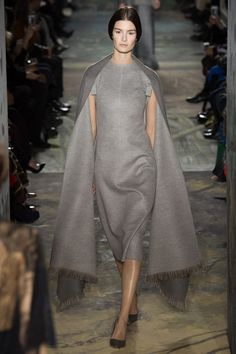 so chic. Valentino Spring 2014 Couture, wool dress, pashmina