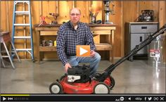 How to change the oil in a lawn mower - prep for winter!