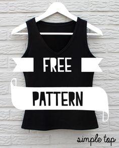 Me & Sew: Simple top - V neck - free pattern l Dutch
