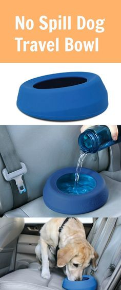 We all know that it is important to keep your dog hydrated while on the road, but sometimes it's just not convenient to stop. Kurgo's Splash Free Wander Bowl's unique wedge design ensures that it lays flat on the seat and its high sides ensure that water will not spill out of the bowl while moving. What a clever idea!