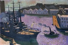 Maurice Denis (1870-1943) The Port of Brest (c. 1932) oil on board 42 x 61 cm