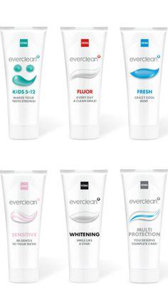 Toothpaste packaging design // Design by Studio Kluif // Managing concept and design process HEMA Mathilde Dijk