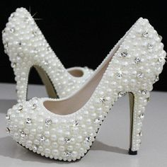 You must feel like a princess on the big day and these gorgeous shoes will do just that! Adorned with pearls and crystals these will make your wedding day comp