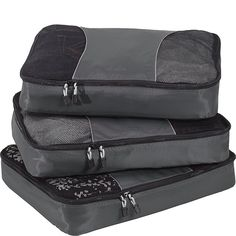 eBags Large Packing Cubes for Travel - Set - (Titanium) Packing Cubes, Packing List For Travel, Travel Set, Minimalist Packing, Minimalist Shoes, Minimal Travel, Packing Light, Winter Travel, Business Travel