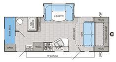 """2015 Jay Flight 23MBH Floorplan 27'2"""""""
