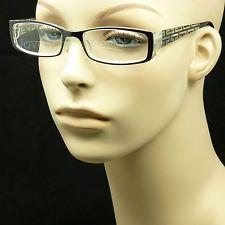 69e97ab7694 Bifocal reading glasses clear lens men women spring hinge fashion power  LP53 Bifocal Reading Glasses