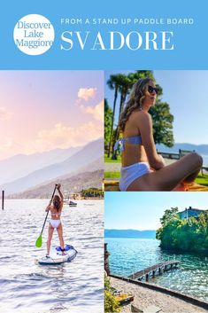 Discover Lake Maggiore from a Stand Up Paddleboard. Experience the beauty of the Lake Maggiore shoreline from the unique perspective of a stand up paddleboard (SUP). Learn more about what activities to do on Lake Maggiore on travel blog Svadore. #svadore #lakemaggiore #lagomaggiore #SUP #standupaddleboard #paddleboard #sport #lake #activity #verbania #pallanza #hotel #luxuryhotel #smallluxuryhotel #slh #piemonte Travel Pictures, Cool Pictures, What Activities, Beautiful Villas, Paddle Boarding, Nice View, Italy Travel, Where To Go, Travel Guides
