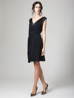Silk Accordion Pleated Dress by Nina Ricci on Gilt.com