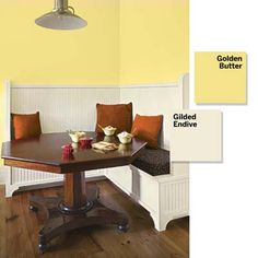 Like a dose of caffeine, cheery colors in a kitchen area get you going in the morning (Valspar)