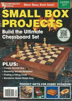 Small Box Projects Magazine Ultimate Chessboard Set Classic Bombe Box Gift Ideas