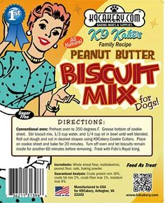 Peanut butter dog biscuit mix