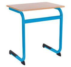 Schoolbank Lis smal hemelsblauw