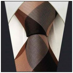 Brown Check - Neckties Only Collection - NTO-Z10 >>> $14.95 w/ Free shipping @ NecktiesOnly.com