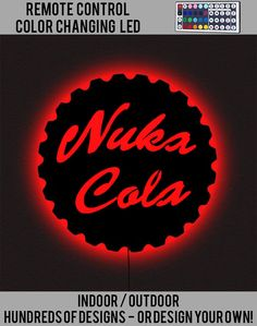 Nuka Cola Fallout Bottle Cap - Wall Art - LED Wall Art - Lighted Wall Art - by Apogee Creations