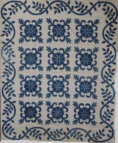 Blue & White Applique Quilt - Ocean Waves Quilt Guild
