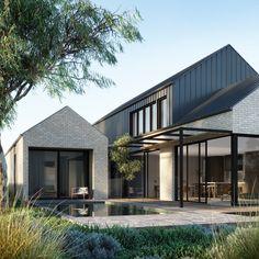 Modern Barn House, Modern House Design, Minimalist House Design, Interior Exterior, Exterior Design, Contemporary Architecture, Architecture Design, Sustainable Architecture, Landscape Architecture