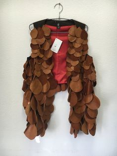 Leather, vest, recycled, leather pieces, brown vest, one of a kind, unique by IvziteFashion on Etsy