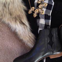 Instagram @headedoutthedoor #ootn || @loftgirl vest | @oldnavy shirt | @gap sweater | @bananarepublic denim | @loefflerrandall boots via @piperlime | @jcrew necklace