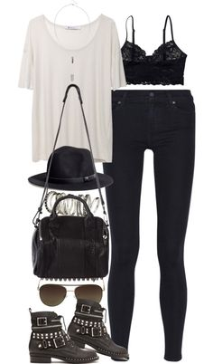 "styleselection: ""outfit for meeting up with friends by im-emma featuring aviator sunglasses"""