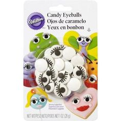 Wilton Icing Decorations, Candy Eyeballs with Lashes