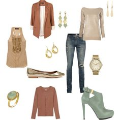 Fall outfit  Pieces to mix and match for day or night.