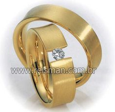 Alianças Sicília ♥ Casamento e Noivado em Ouro 18K - Reisman