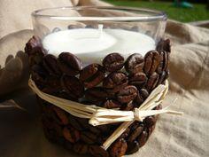 Kávés-kókuszos mécses, Dekoráció, Otthon, lakberendezés, Ünnepi dekoráció, Gyertya, mécses, gyertyatartó, Meska