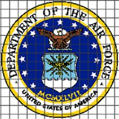 (4) Name: 'Crocheting : AIR FORCE 04 Graphghan Pattern