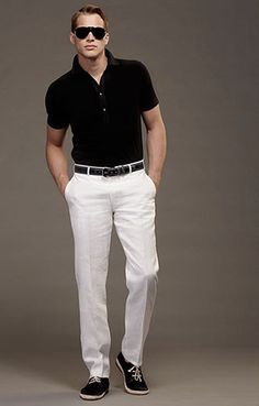 I love white pants!