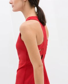 DRESS WITH STRAPS ON THE BACK from Zara 229 RON