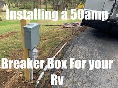 Installing a 50amp Breaker Box for a Motorhome/Rv - YouTube Add Electrical Outlet, Electrical Outlets, Breaker Box, Can Run, Motorhome, Rv, Youtube, Motor Homes, Camper