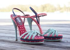 Tabitha Simmons Betsy multicoloured platform sandals