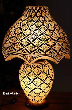 Camel Skin Table Lamp by KASHTPURI       Visit us at: https://www.facebook.com/pages/Kashtpuri/287811578041014?ref=hl for more!